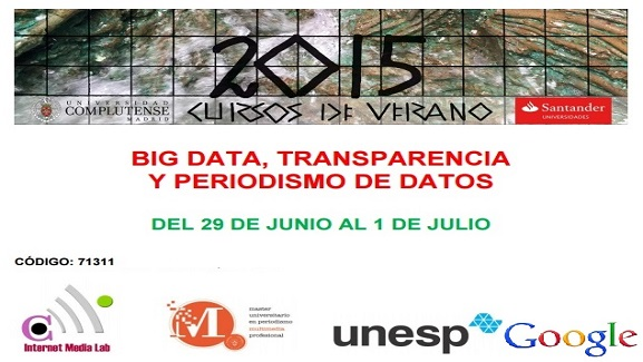 Abiertas las inscripciones para Big data, Transparency and Data Journalism en los Cursos de verano El Escorial UCM